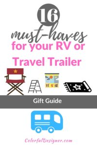 Must haves and gift guide for RV/Travel Trailer/Camper