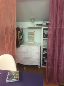 dresser moved into a closet