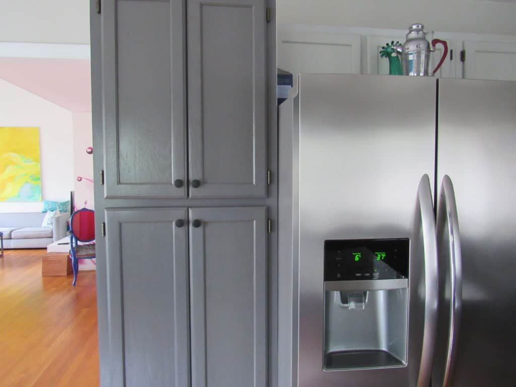 painted kitchen in grays