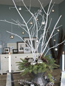 decorated branches  Christmas decorations