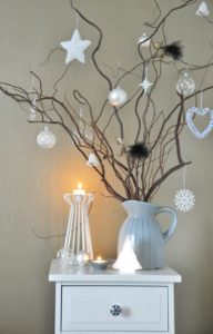 Christmas decorations - decorated branches