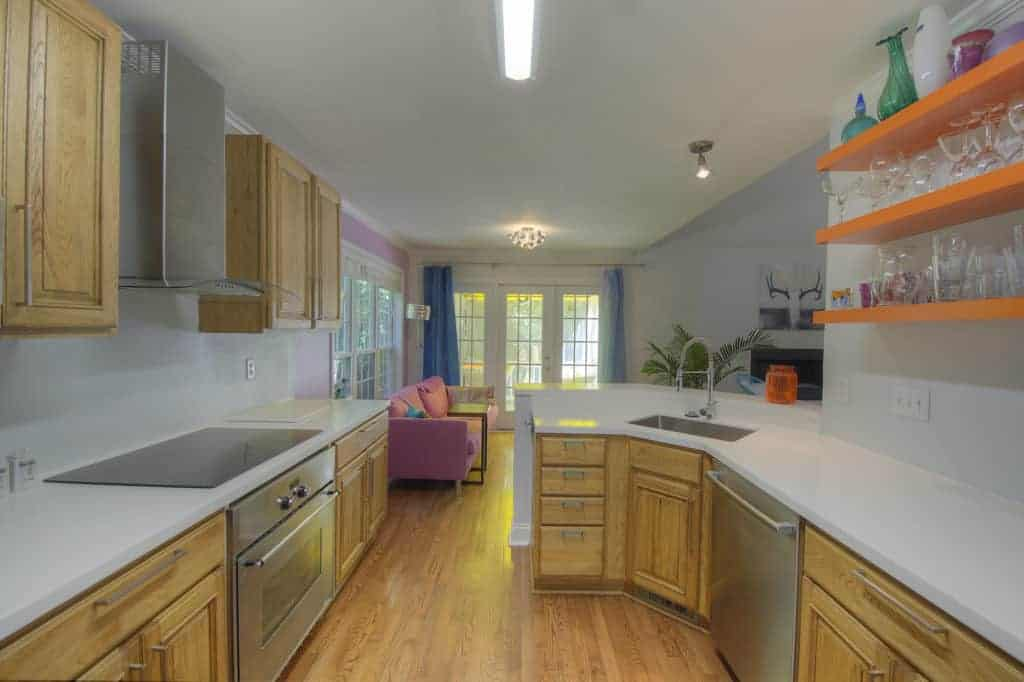 exchanging countertops is a great update to this kitchen. Top 2 Home Updates before selling.