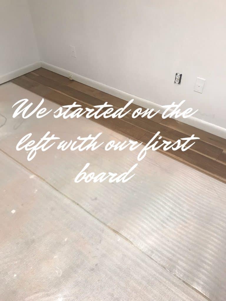 First three rows laminate floor