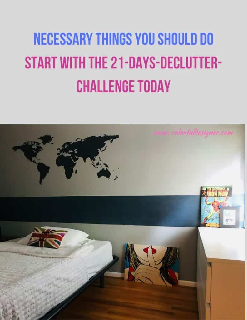 Declutter your rooms for a fresh start
