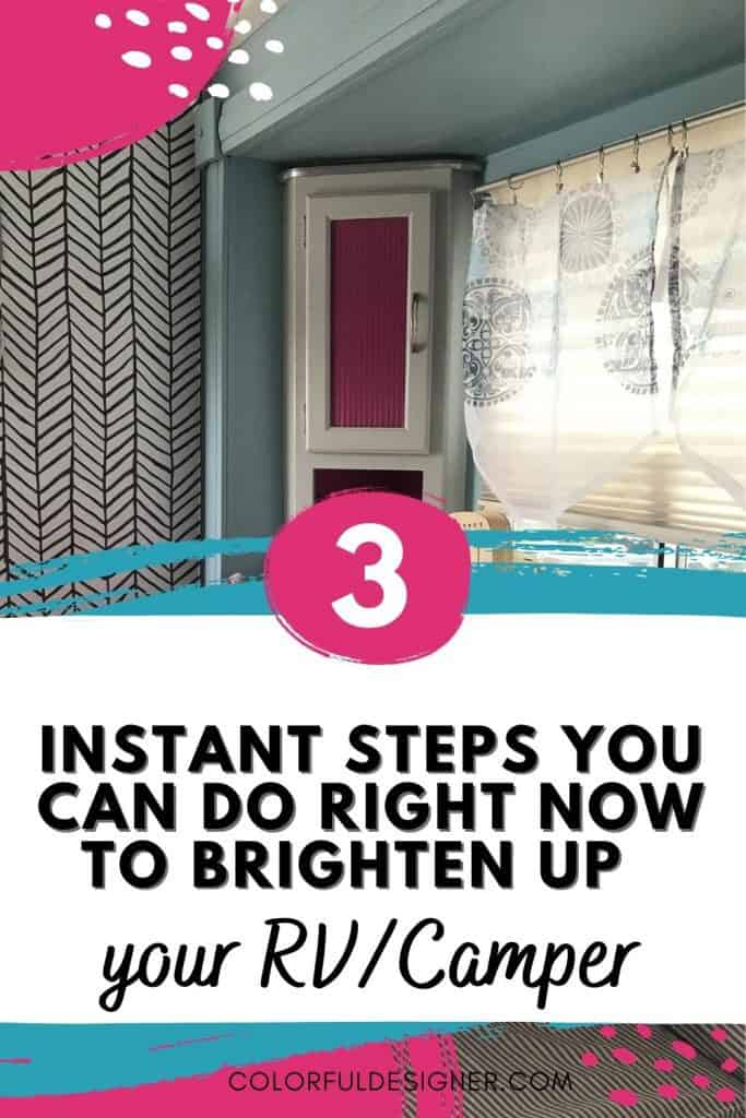 3 instant steps to make a Camper bright and light