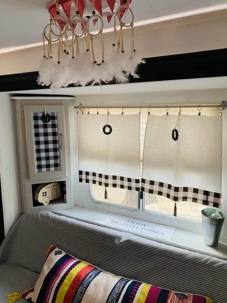 New window treatments make a huge difference. 5 affordable RV updates you can easily do on your own
