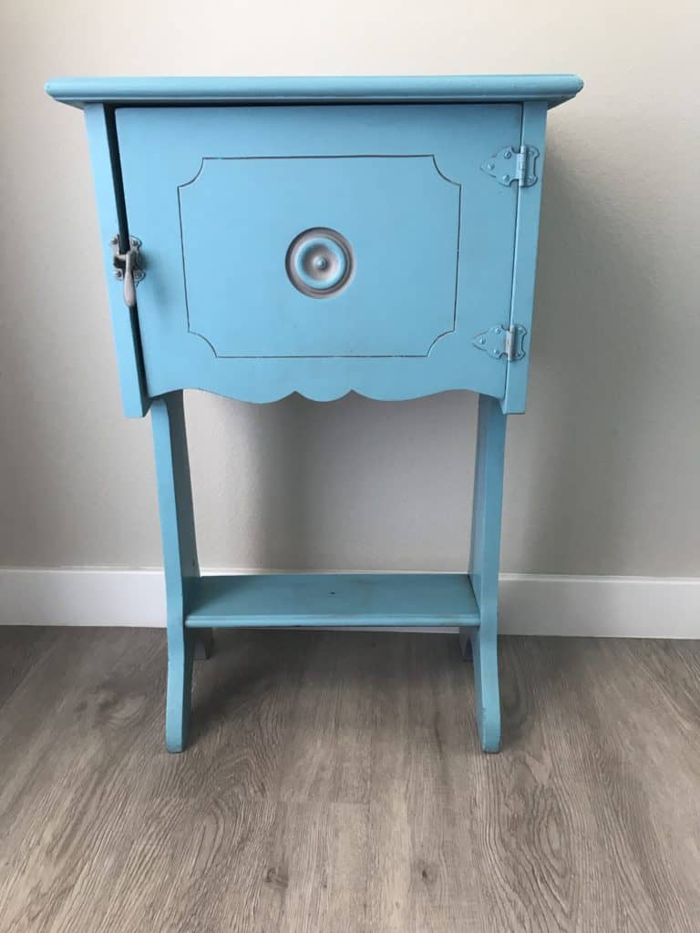 teal color night stand, The ultimate tips how to easily add stencils on furniture