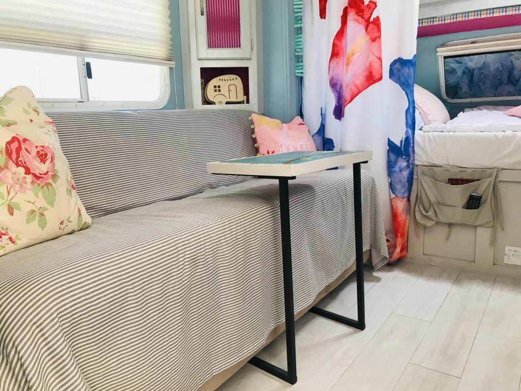 Travel Trailer remodel with fresh pastels, 10 ways to update your RV fast and easy