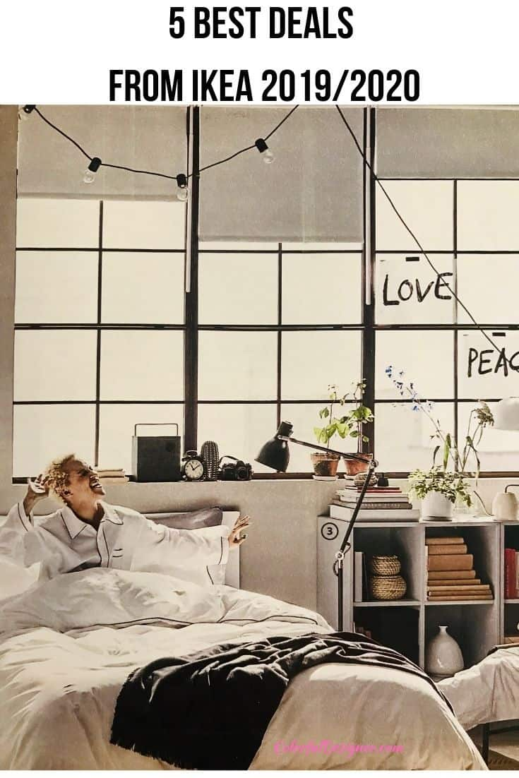 5 best deals from the Ikea catalogue  2019/2020. Colorful furniture for your home or apartment that looks great.