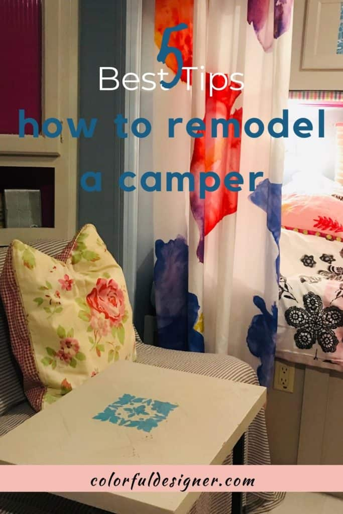 If you are tired to travel in your old and dated Camper/Travel Trailer/RV, update it fast and easy with the best 5 tips how to remodel it.