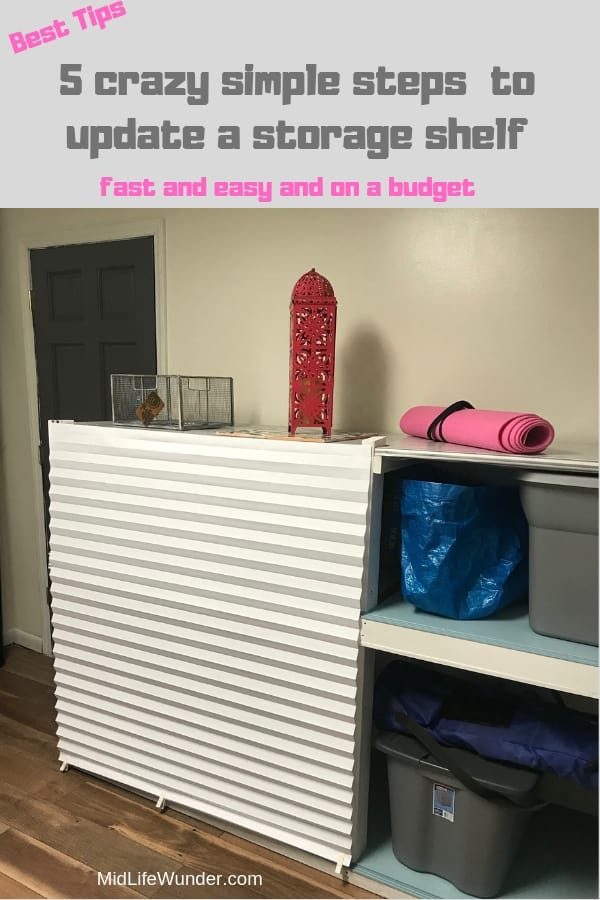 how to glam up a storage shelf