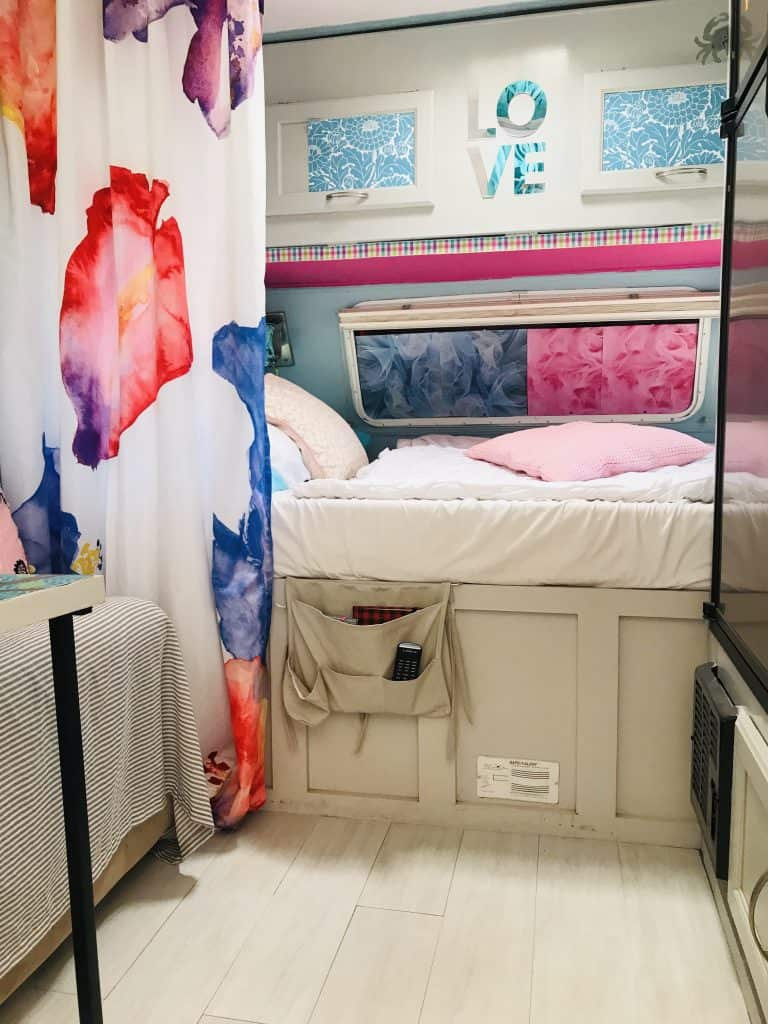 Camper Remodel Ideas How To Remodel A Travel Trailer Under 200 Colorful Designer