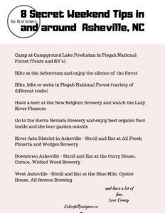 Secret weekend tips in Asheville, NC