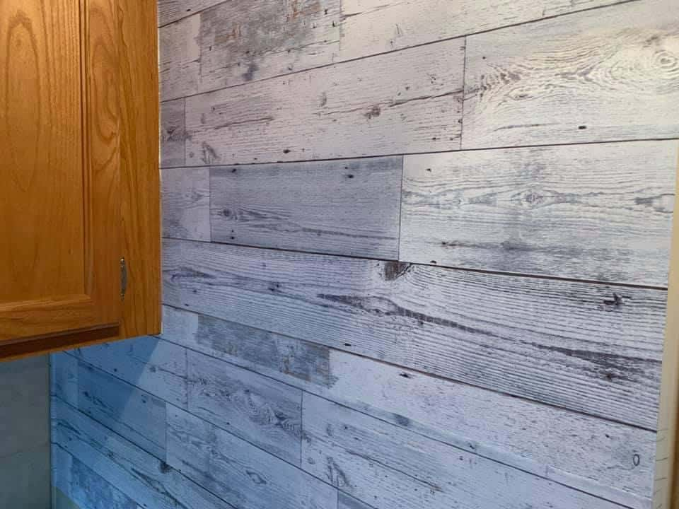 shiplap wallpaper, Peel and stick wallpapers for RVs