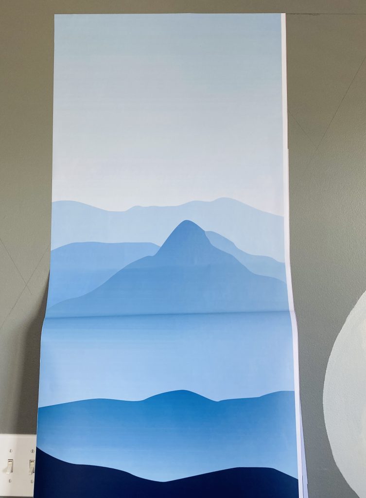 apply peel and stick wallpapers from the top making a straight line