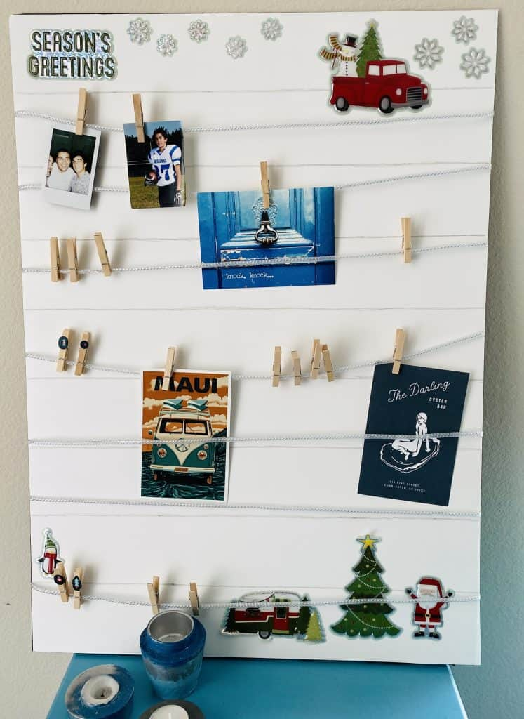 Memory board finished with decor. Easy to make memory boards (under $ 5 DIY present)