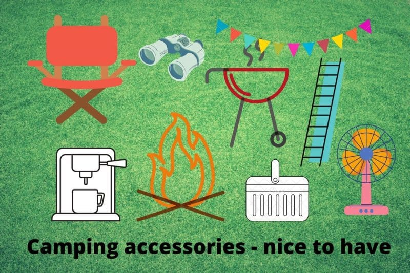 Camping accessories for glamping