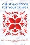 Christmas decoration for your RV