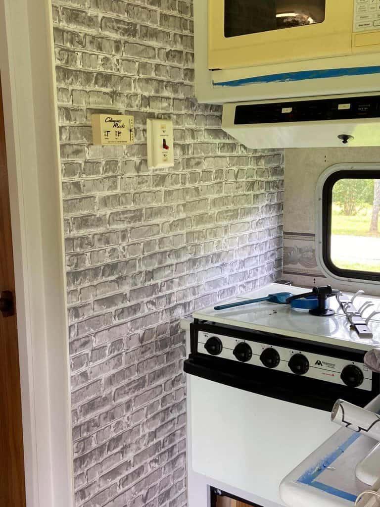 Brick pattern peel and stick wallpaper