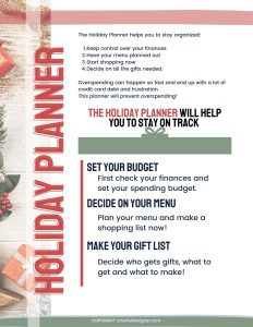 holiday planner