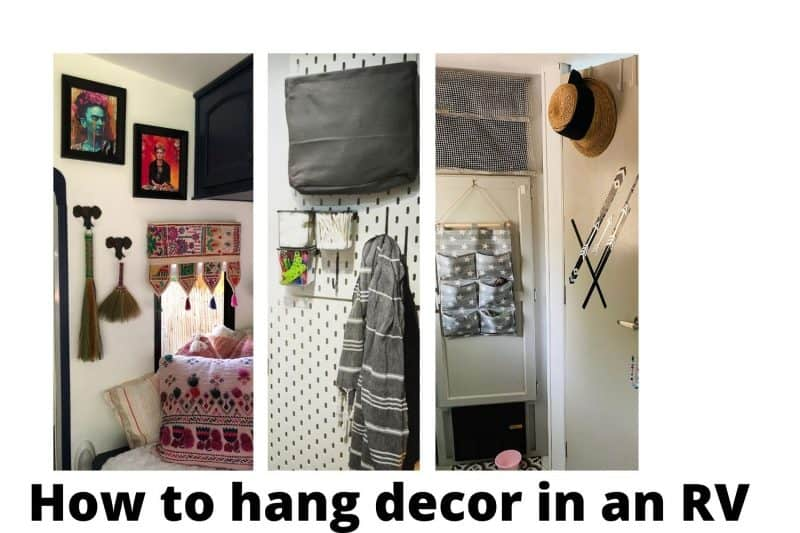 how to hang decor in an RV