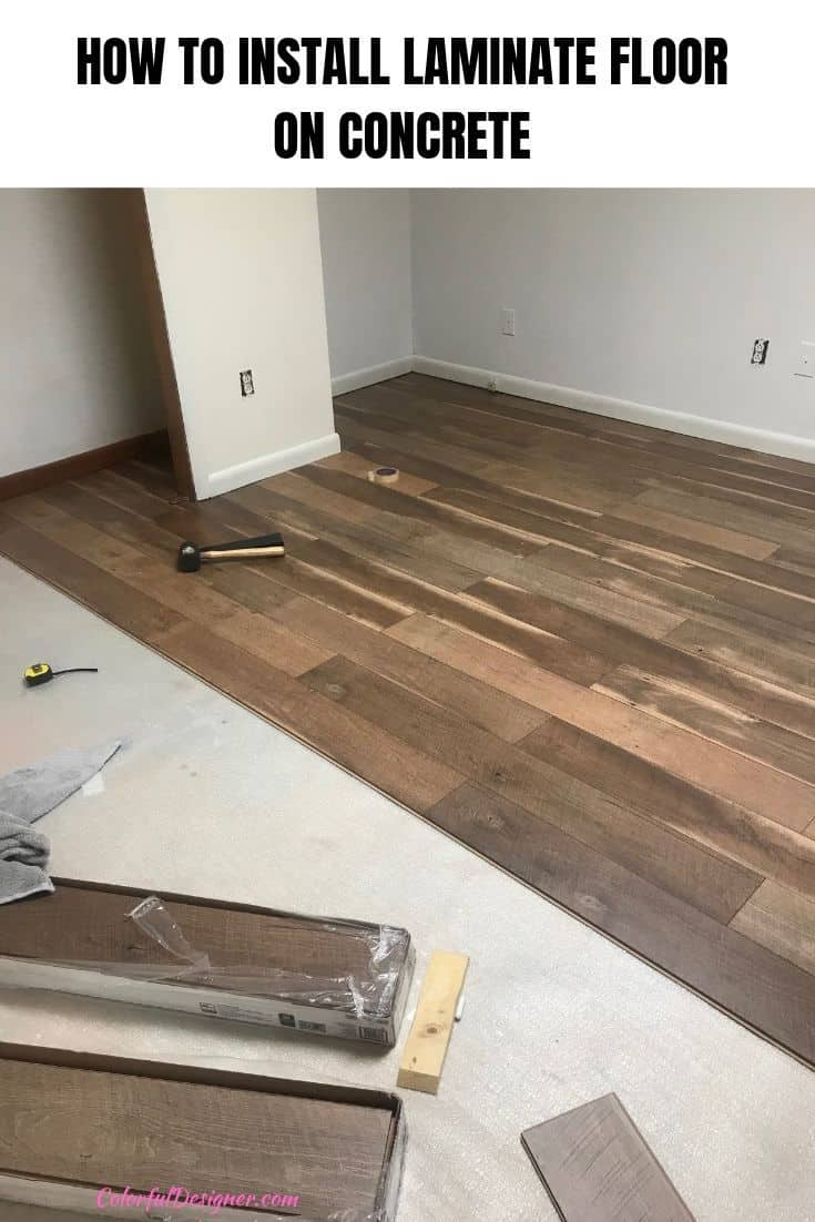 To Install Laminate Floor On Concrete, How To Install Laminate Flooring On Basement Concrete