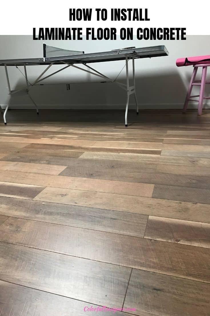 Updated floor with laminate