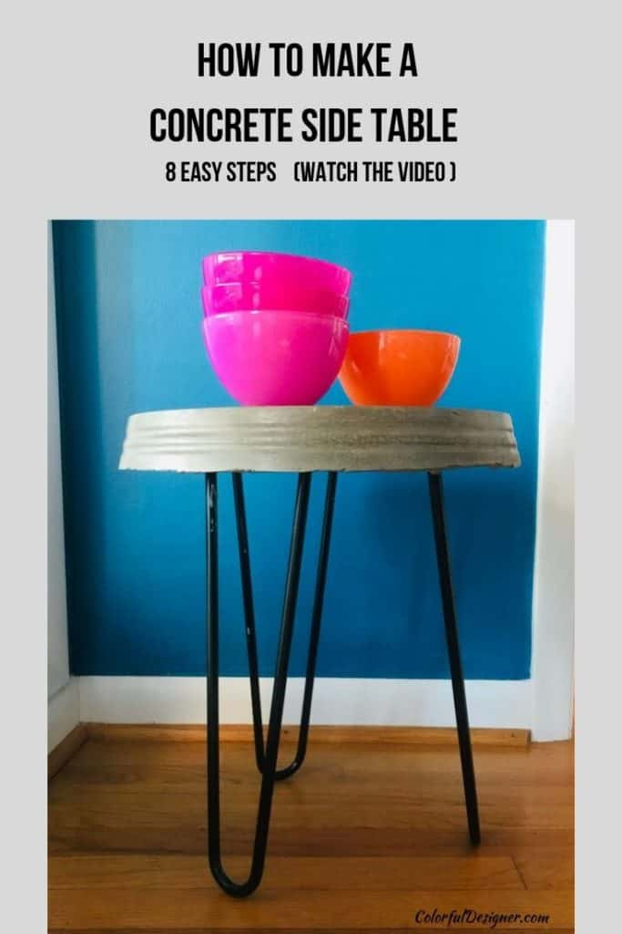 DIY concrete side tables