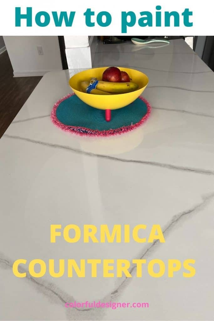 How to paint Formica countertops to look like marble