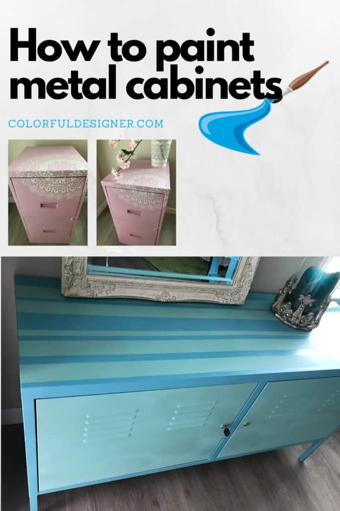 Easy afternoon project if you have an old metal cabinet you want to update. Just paint it and learn how to make chalk paint cheap and easy.