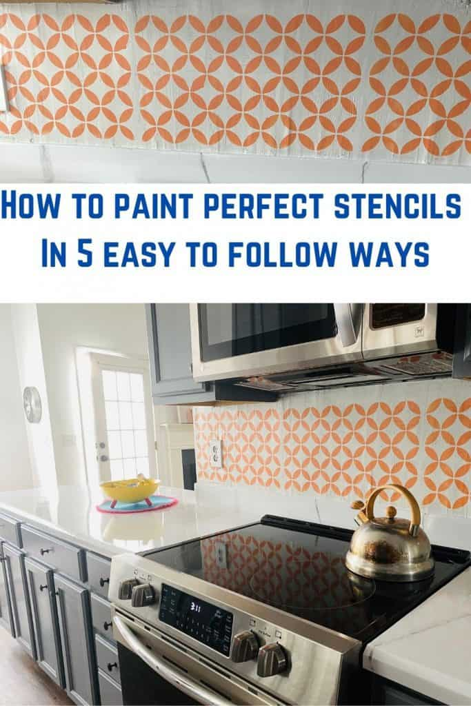 Get all the tips how to paint a perfect stencil on the wall.