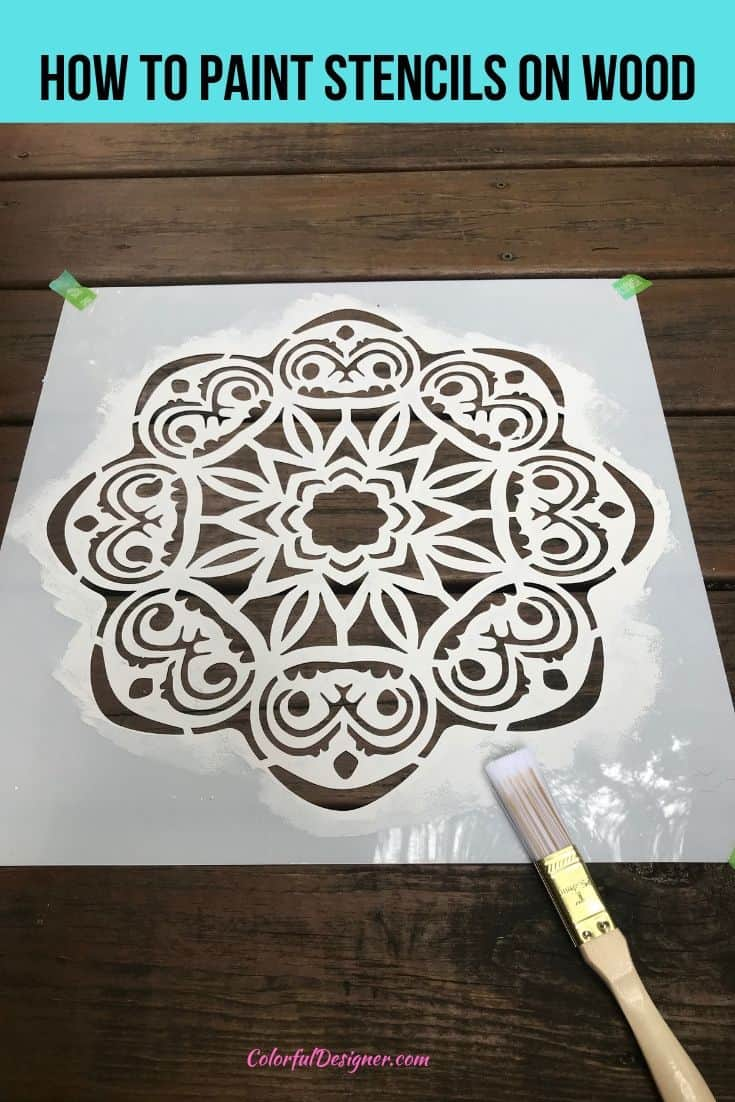 Adding stencils on wood the easy way