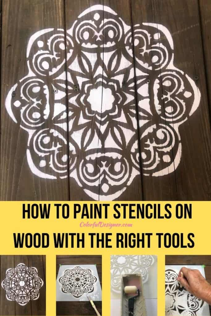 Easy instructions how to paint stencil on wood. Use the right tools to paint any stencil to make it look good.