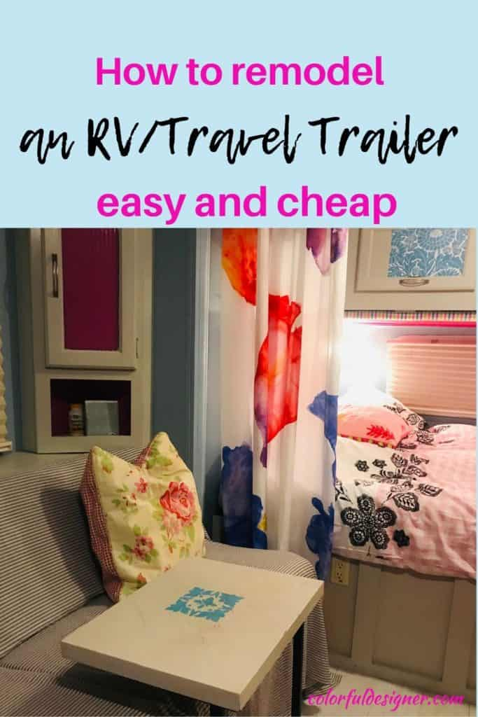 Makeover tips for RV's and Travel Trailers