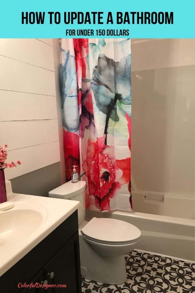 Bathroom makeover for under 150 $