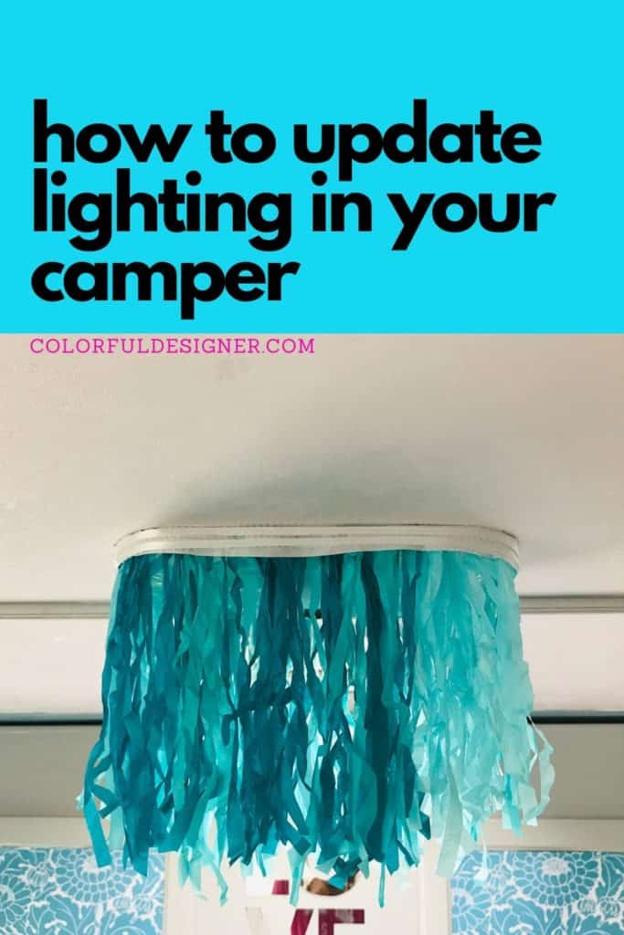 how to update lighting in your camper