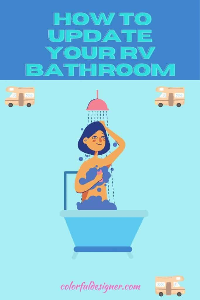 How to update an RV bathroom the super-easy way, RV bathroom remodel done in a day.