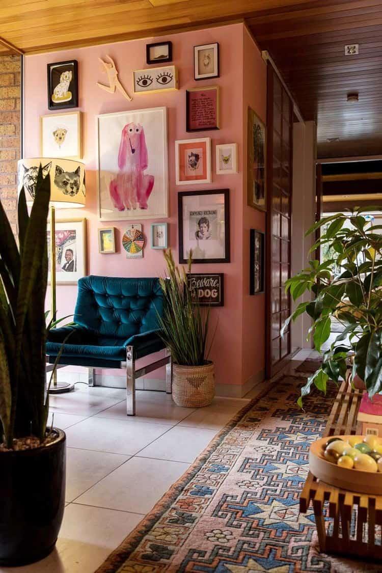 Pink Walls to display wall art.