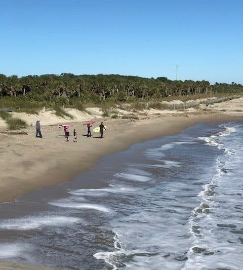 Camping and surfing at Edisto Beach