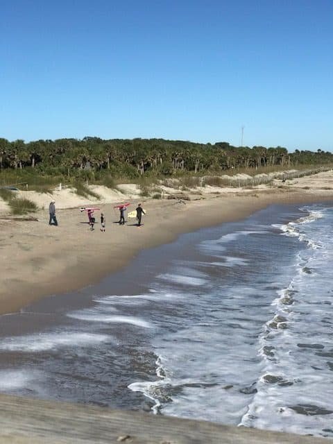 Go surfing at the beach and park your camper right at Edisto Beach Campground.