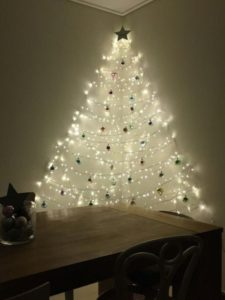 wall Christmas tree LED lights