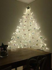 wall Christmas tree LED lights