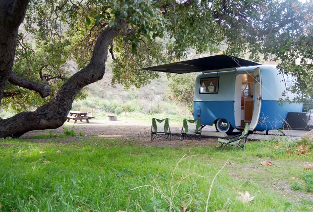 Scamp trailer, small but very cute and easy to tow. RV vs. Travel Trailer - what is the best option?