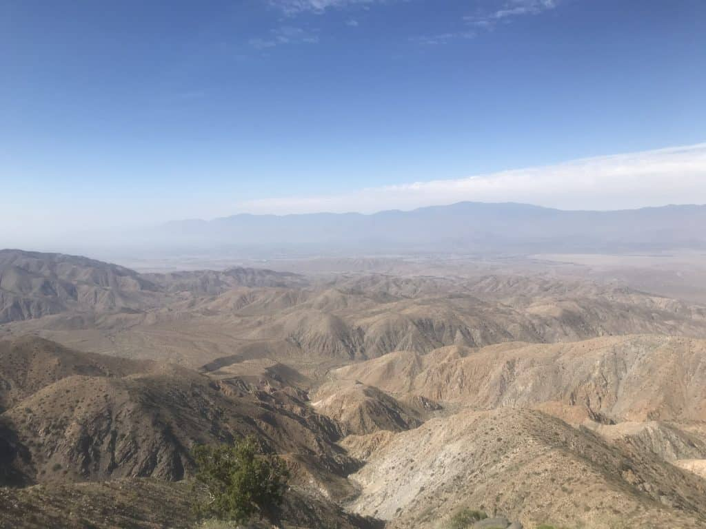 View from the top to see Coachella Valley