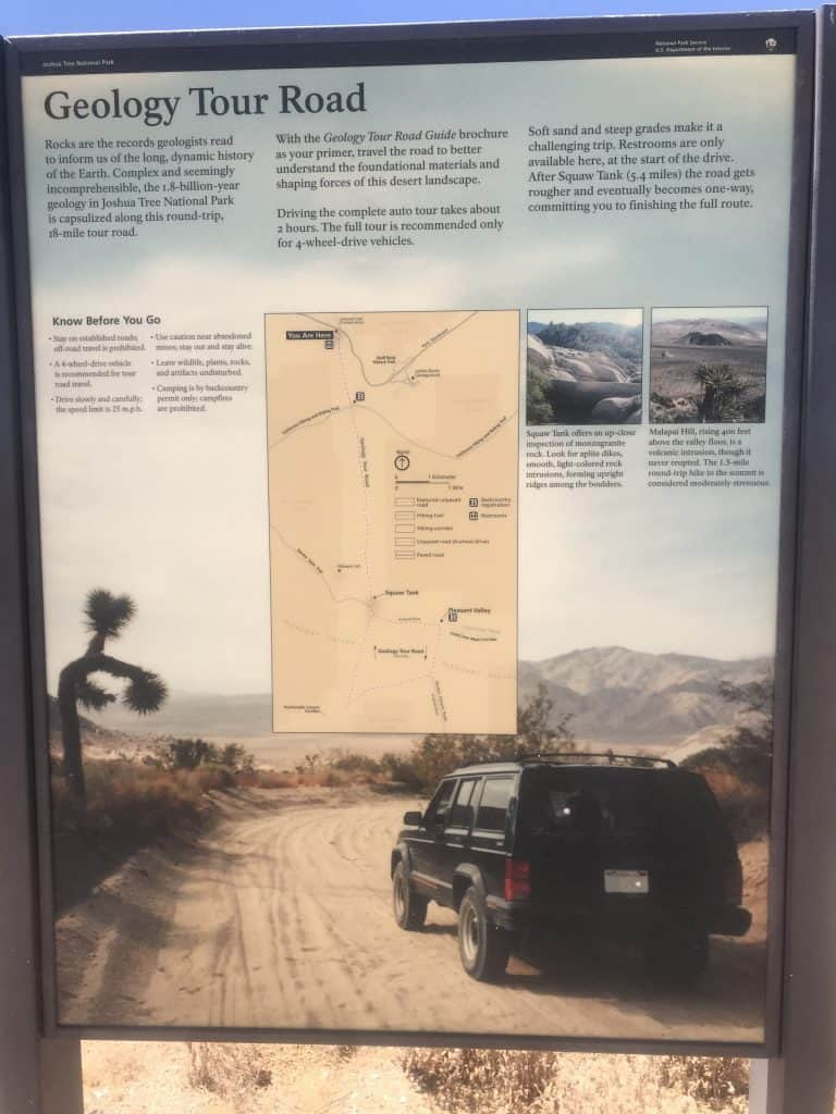 Geology Tour in Joshua Tree if you own a 4 wheel drive go for it.