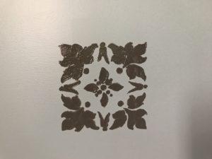 stencil on the closet
