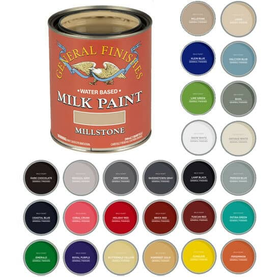 Different color choices from General Finishes Milk Paint