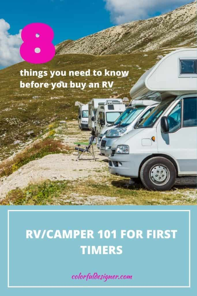 RV Camper 101 for first timers