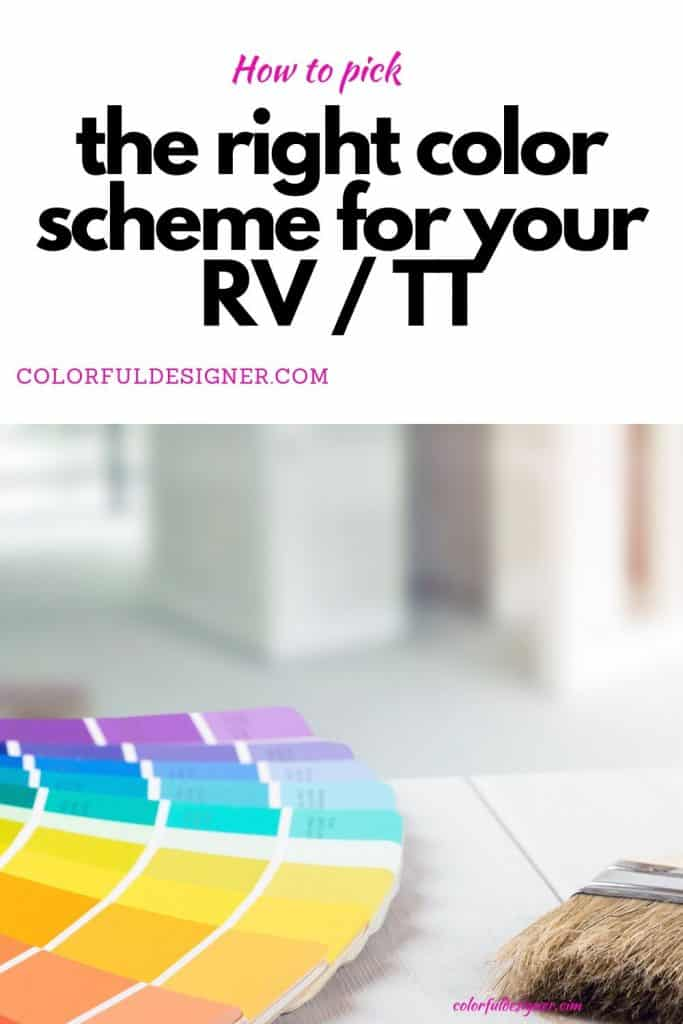 How to select the right color scheme for your RV or Travel Trailer