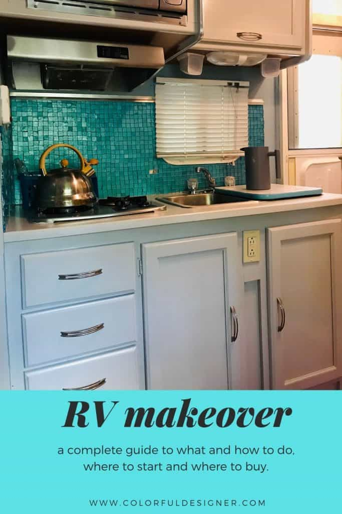 Camper Kitchen remodel after painting